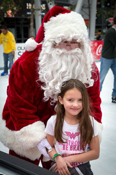 Holiday On Ice 2016 skater with Santa