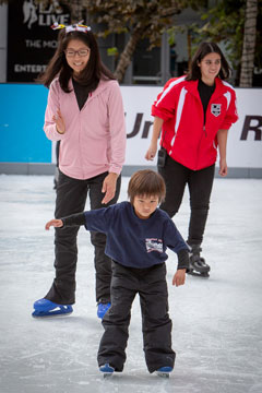 Holiday On Ice 2018 skater with arms out