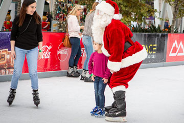 Holiday On Ice 2018 skater with Santa